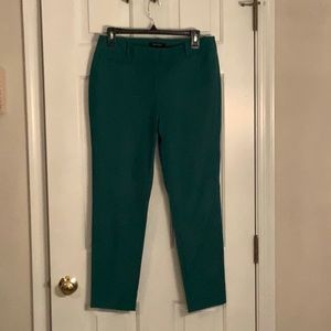 WHBM GREEN ankle pant